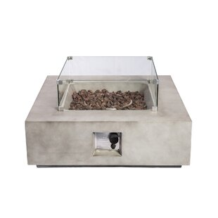 Holman Concrete Propane Fire Pit Table By Sol 72 Outdoor