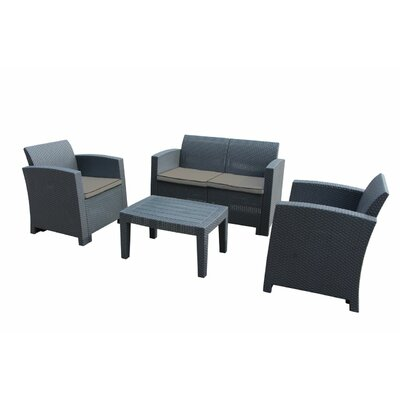 Pelletier 4 Piece Sofa Seating Group With Cushions Ebern Designs