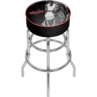 Budweiser Clydesdale 31 Swivel Bar Stool Trademark Global