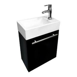 Evander 18 Wall-Mounted Single Bathroom Vanity Set By Wrought Studio