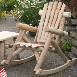 Lakeland Mills Solid Wood Rocking Adirondack Chair