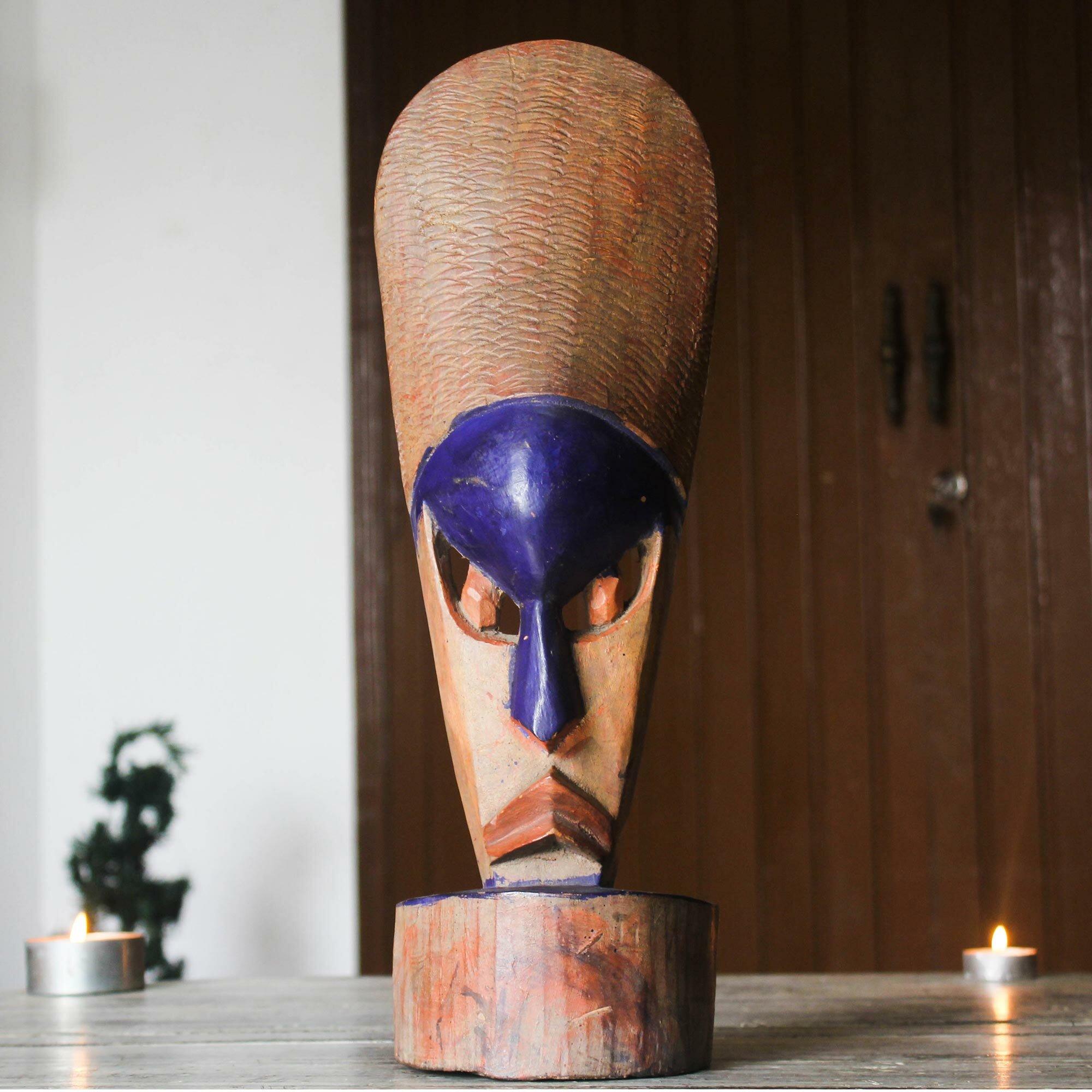 World Menagerie Standing Beauty Dan Wood Mask Wall Décor Wayfair