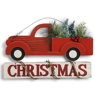 hober truck christmas sign
