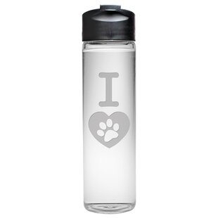 I Heart Paw Travel Water Bottle