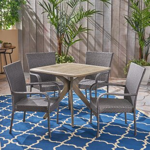Adonis Outdoor 5 Piece Dining Set by Wrou..