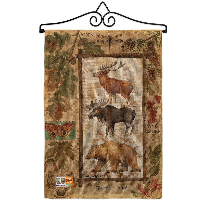 Breeze Decor Woodland Adventures Burlap Nature Wildlife Impressions Decorative 2 Sided Polyester 1 5 X 1 1 Ft Garden Flag Wayfair