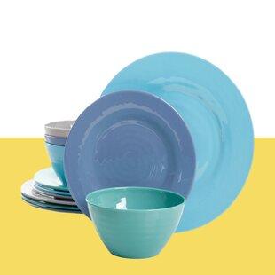 Carita 12 Piece Melamine Dinnerware Set, Service For 4 By Hashtag Home