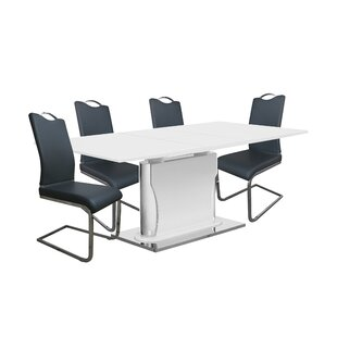 Magoon 5 Piece Extendable Dining Set