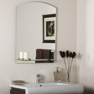 Bathroom Mirror Shelf shelf or drawer mirrors you'll love | wayfair