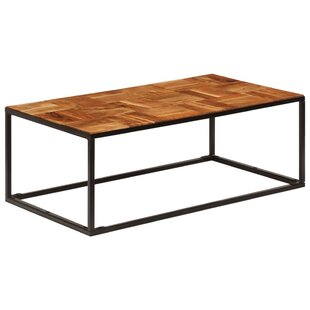 Odin Solid Acacia Wood And Steel Coffee Table By Union Rustic