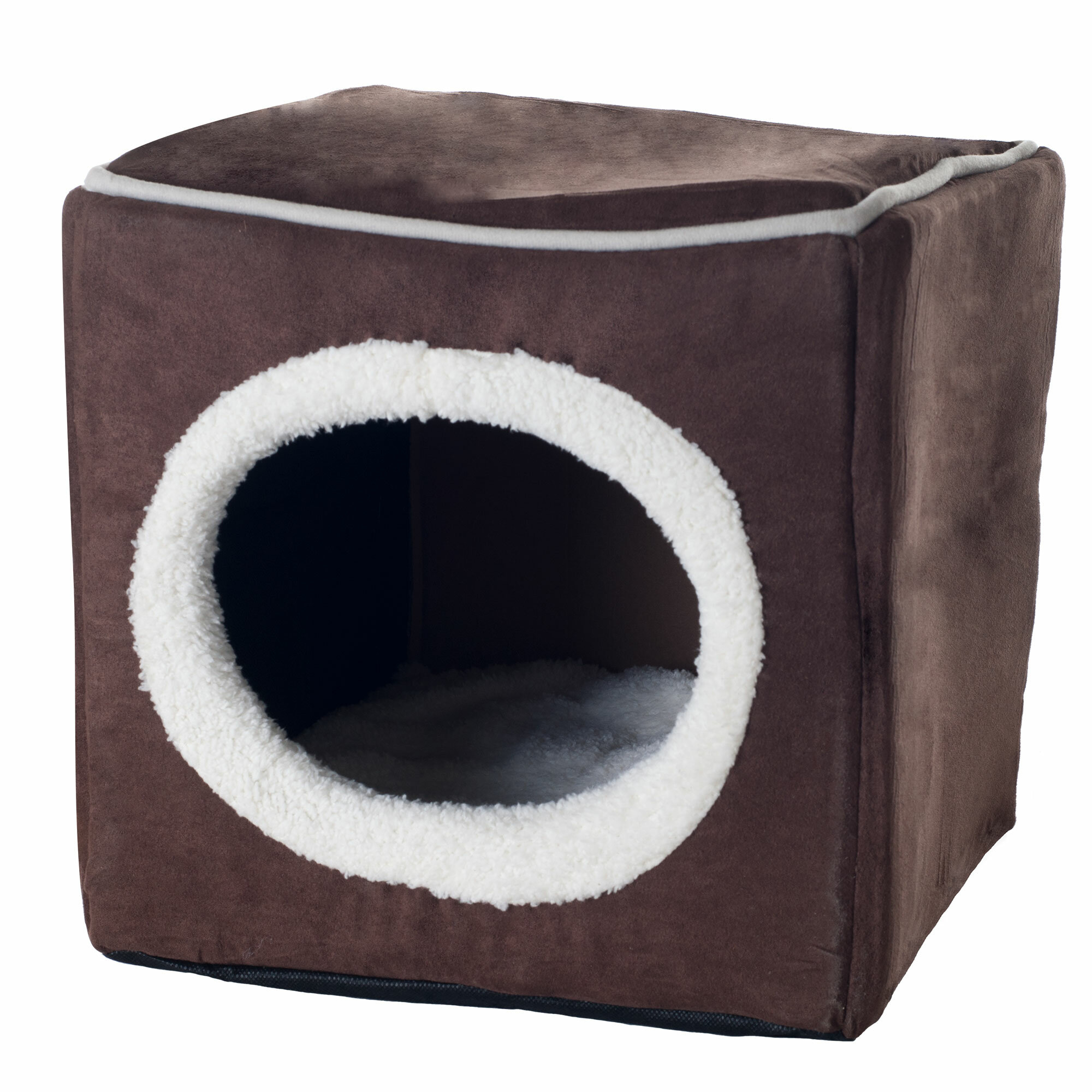 Cat Bed with Pillow /& Reinforced Top Foldable Cat Houses for Indoor Cats,Foldable Cat Houses for cat Tower Easy Travel Cat Cube is Machine Washable Thick Felt Cat Cave for IKEA Shelf