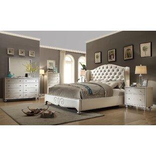 House of Hampton Kwak King Size Panel 4 Piece Bedroom Set