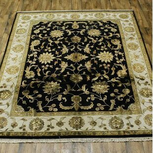 Read Reviews One-of-a-Kind Melissa Oriental Hand-Knotted 10' 2'' X 7' 8'' Wool Black Area Rug By Astoria Grand