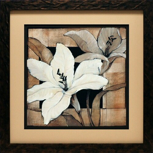 North American Art Dramatic Lily Grid I By Tim O Toole Framed Painting Print Reviews Wayfair