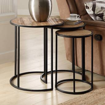 Gracie Oaks Pflugerville Mini Basket Wood Top End Table Wayfair
