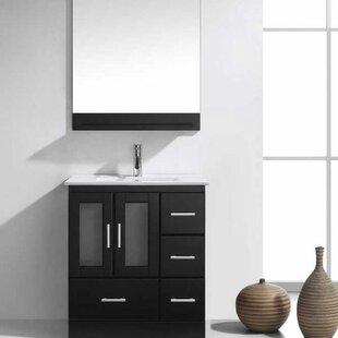 Duke 30 Single Bathroom Vanity Set with Mirror By Wade Logan
