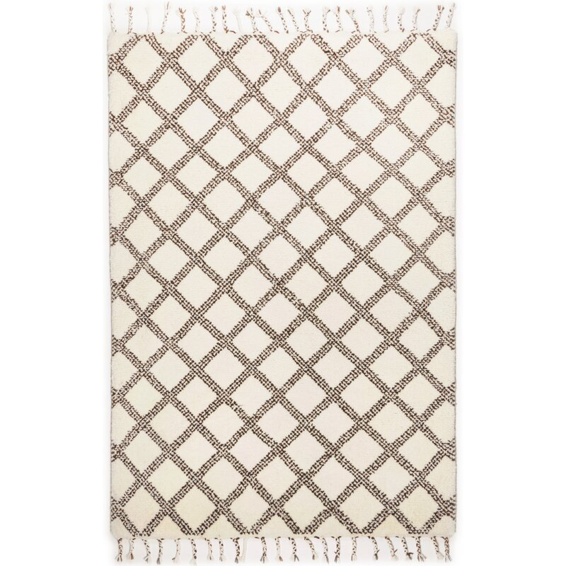 Bloomsbury Market Belmore Hand Knotted Wool White Rug Wayfair Co Uk