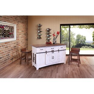 Coralie 3 Drawer Kitchen Island Set Gracie Oaks