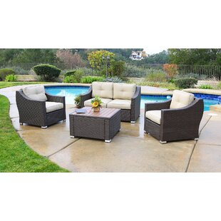 Tampa 4 Piece Sofa Seating Group with Cushions