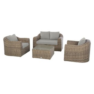 Bestla 4 Seater Rattan Sofa Set By Sol 72 Outdoor