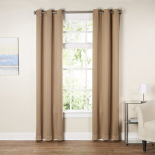 Wayfair Basics Solid Blackout Grommet Single Curtain Panel by Wayfair Basics™