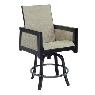 Leona Gold Coast Sling Swivel Patio Bar S..
