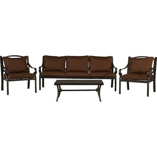Dominque 4 Piece Sofa Seating Group with Cushions
