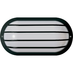 Reviews Chapple Traditional 1-Light Outdoor Bulkhead Light By Ebern Designs