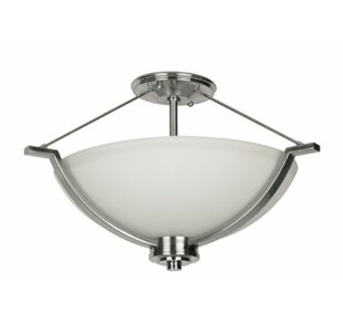 Winston Porter Woolridge 2-Light Semi Flush Mount