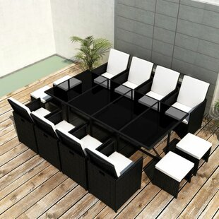 Pilar 12 Seater Dining Set With Cushions By Sol 72 Outdoor