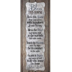 Bless This House New Horizons Textual Art Wood Plaque