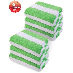 Laney 100% Cotton Beach Towel (Set of 6)