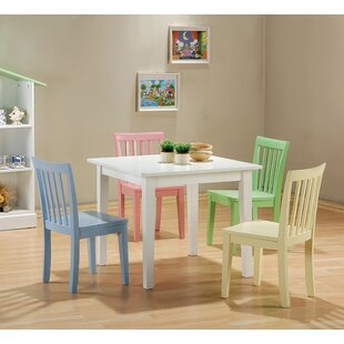 New Canaan Youth 5 Piece Dining Set Harriet Bee