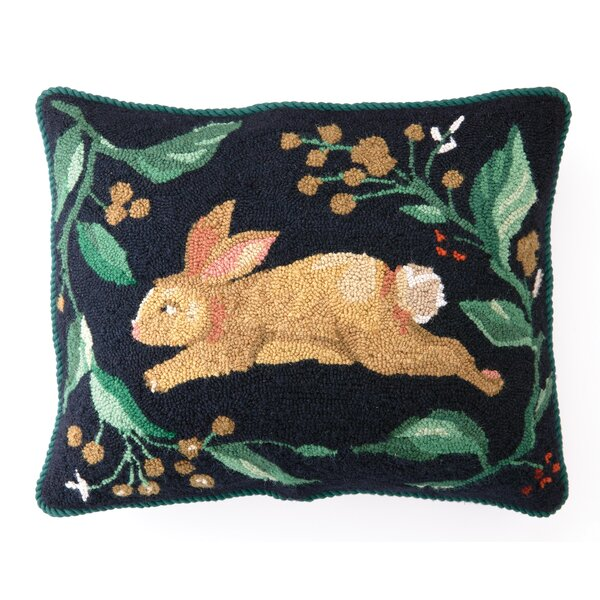 Wool Hooked Rabbit Pillow Wayfair