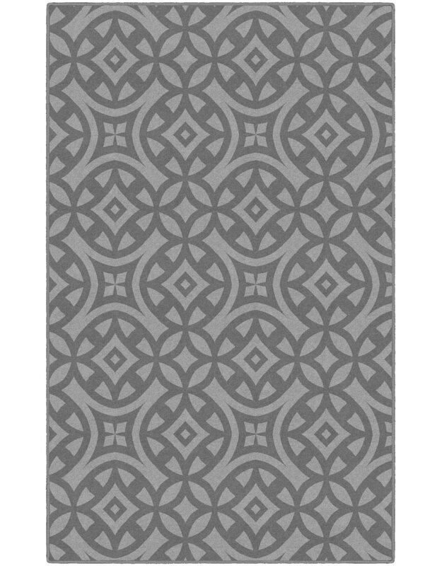 World Menagerie Melton Trellis Gray Area Rug, Size: Rectangle 76 x 10