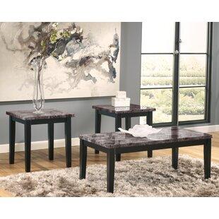 Crume 3 Piece Coffee Table Set