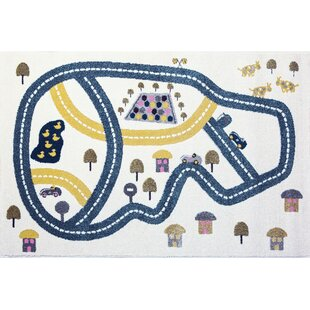 Blue/Yellow Area Rug by Art for kids