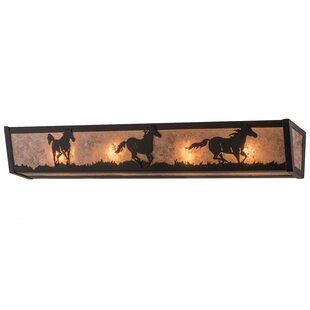 Meyda Tiffany Running Horses 4-Light Bath Bar