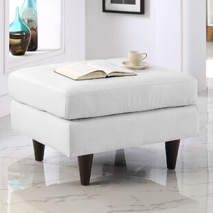 Langley Street Warren Leather Cocktail Ottoman