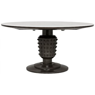 Noir Yoshiko Solid Wood Dining Table