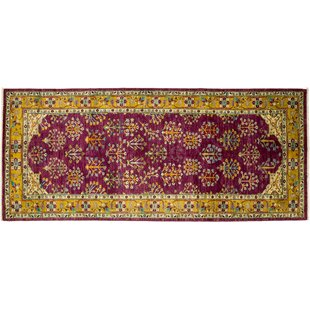 Best Price One-of-a-Kind Eclectic Hand-Knotted Pink Area Rug By Darya Rugs