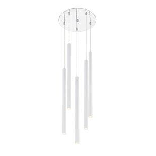 Desborough Island Billiard 5-Light LED Cluster Pendant by Orren Ellis