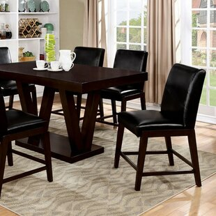 Shequita Rectangular Counter Height Solid Wood Dining Table Red Barrel Studio
