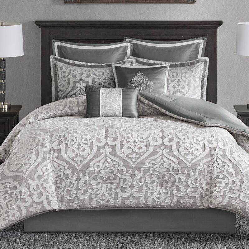 House Of Hampton Tess Damask 8 Piece Comforter Set Reviews Wayfair