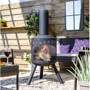 Bellatrix Steel Wood Burning Chiminea By Sol 72 Outdoor