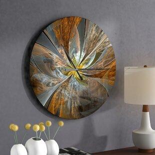 Symmetrical Fractal Flower Wall Clock