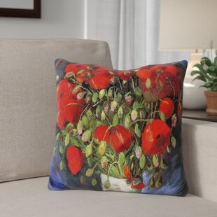Gerken Vase with Poppies Throw Pillow