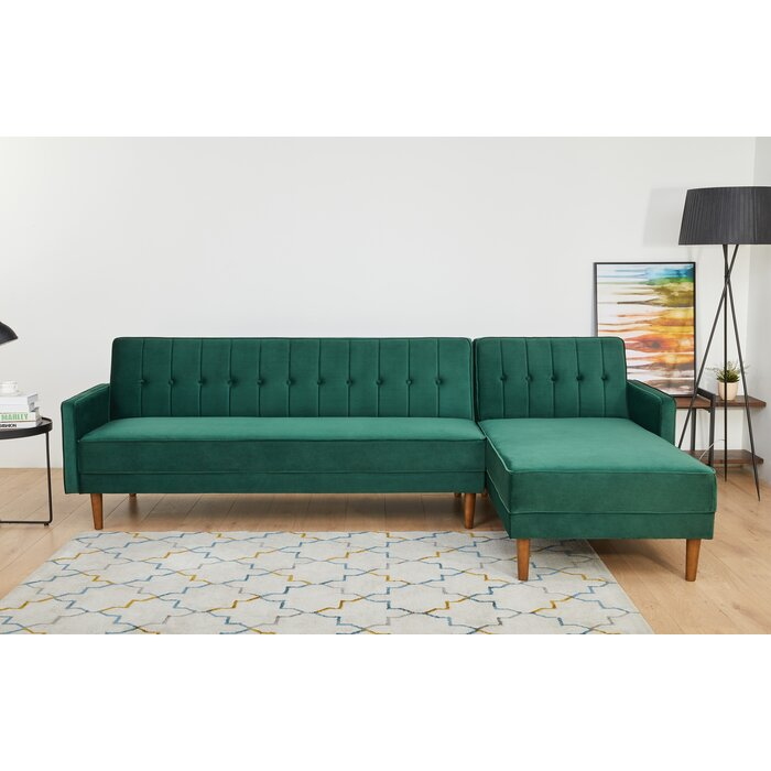 Epperson Convertible Reversible Reclining Sectional Sofa Bed
