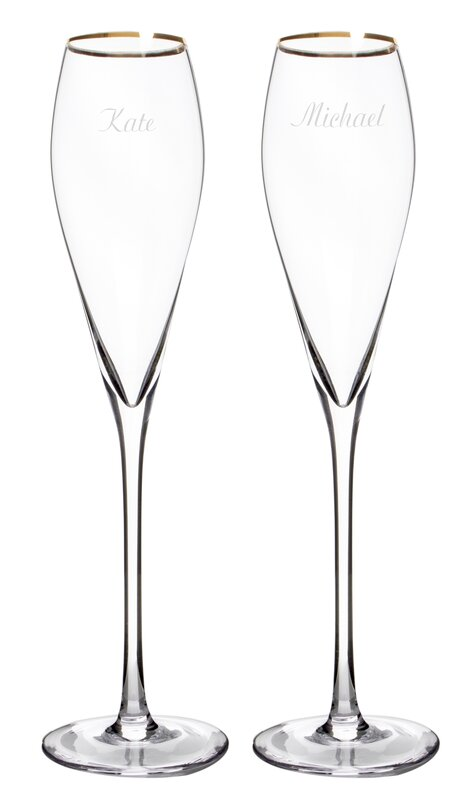 cathys concepts personalized champagne flute glass reviews wayfair