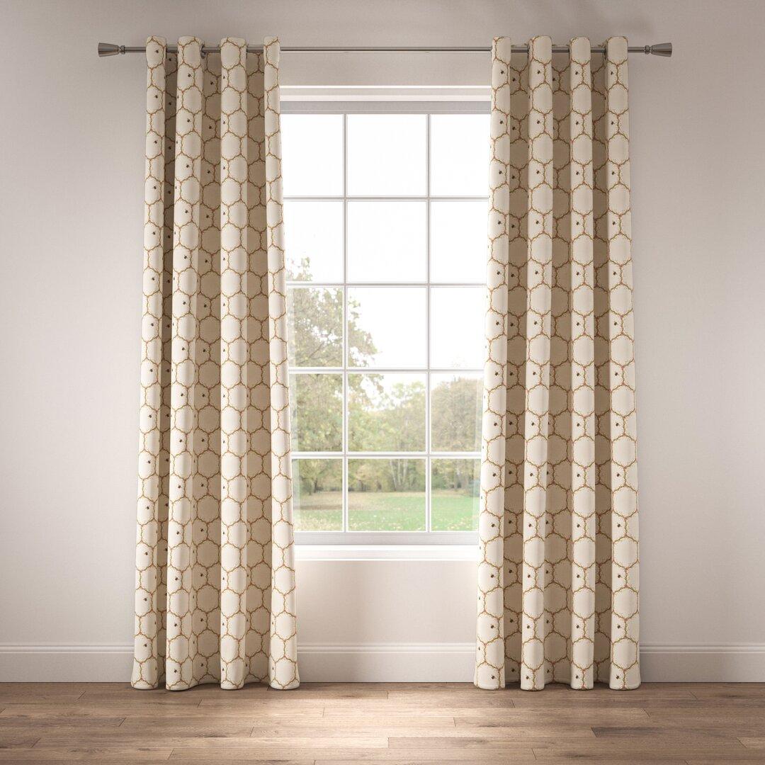 Honeycomb Eyelet Room Darkening Thermal Curtains
